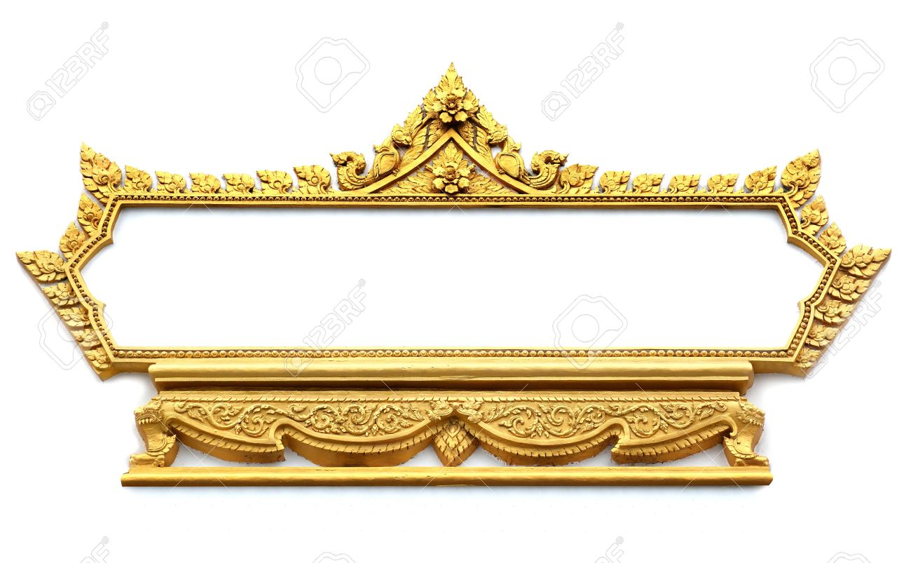 Frame with Thai art wall pattern in Thailand Temple Stock Photo - 14997015