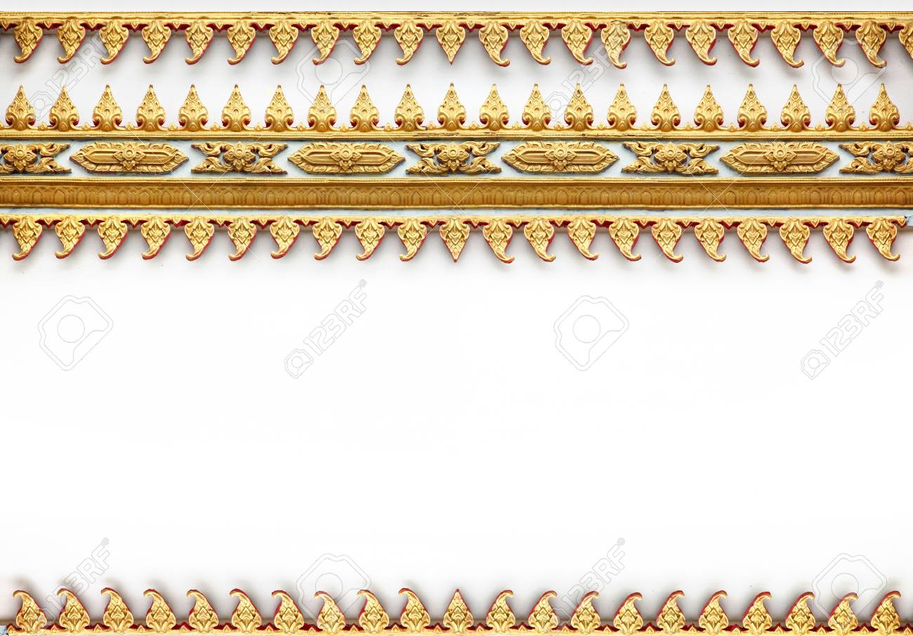 Frame with Thai art wall pattern in thailand Temple Stock Photo - 14997023