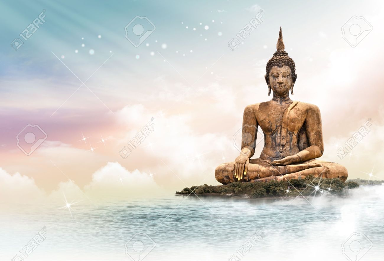 Buddha statue over scenic lighting background Stock Photo - 15066794