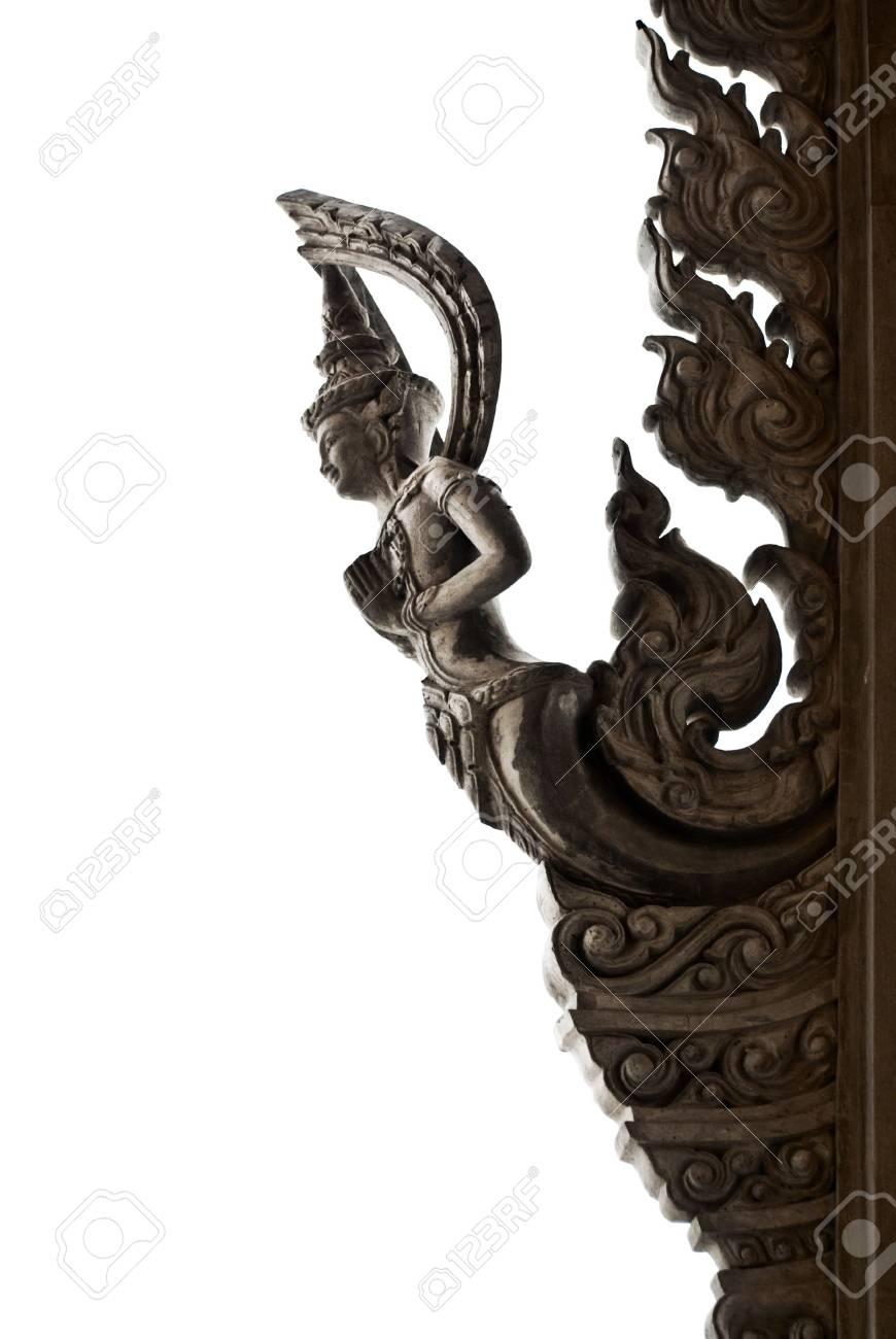 silhouette Thai style angel on white background Stock Photo - 15177975