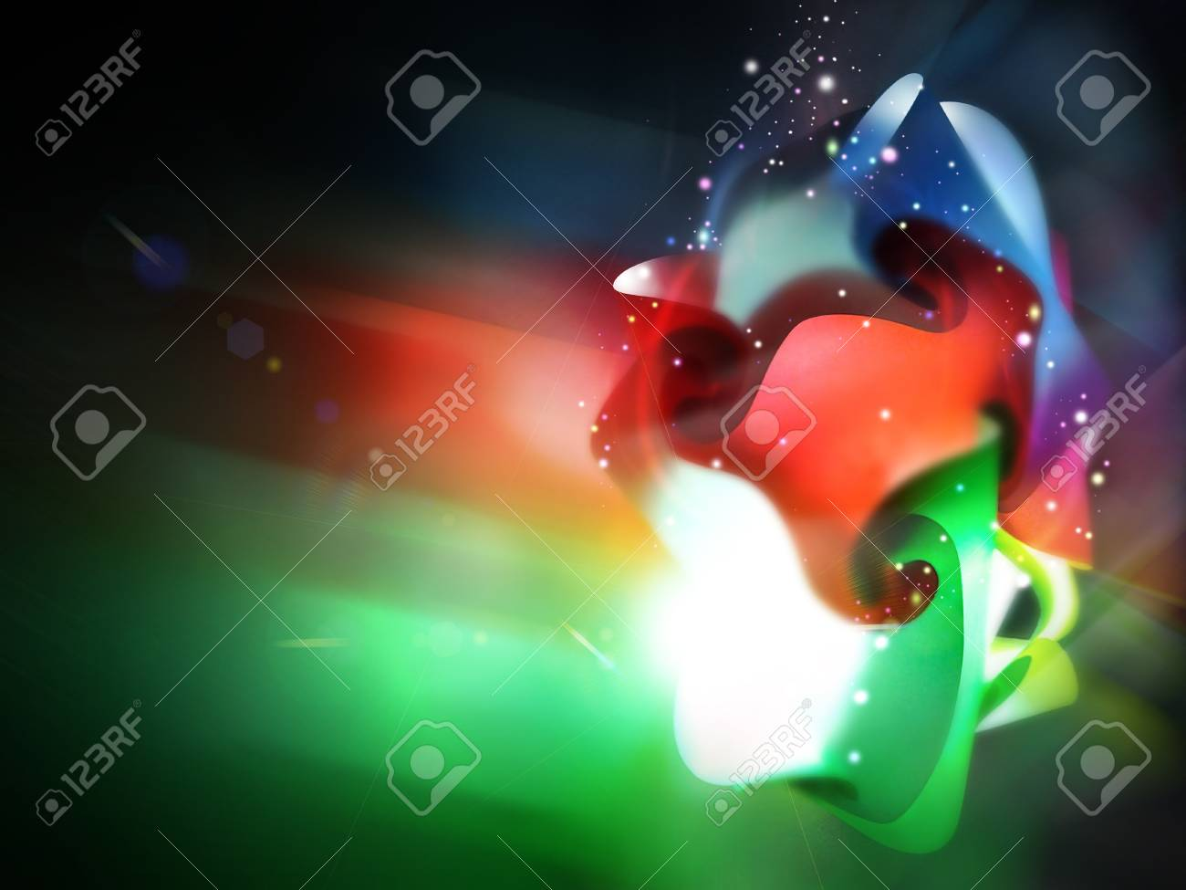 light aura abstract Stock Photo - 17316920