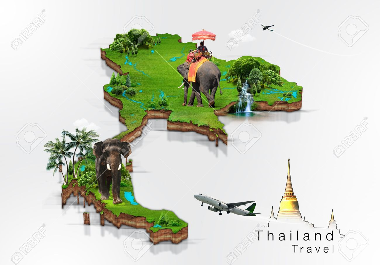 Thailand Travel Concept Photo Picture And Royalty Free – Tourist Attractions Map In Thailand