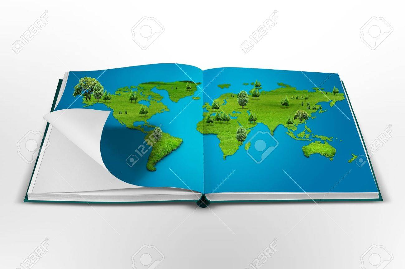 World Map Book