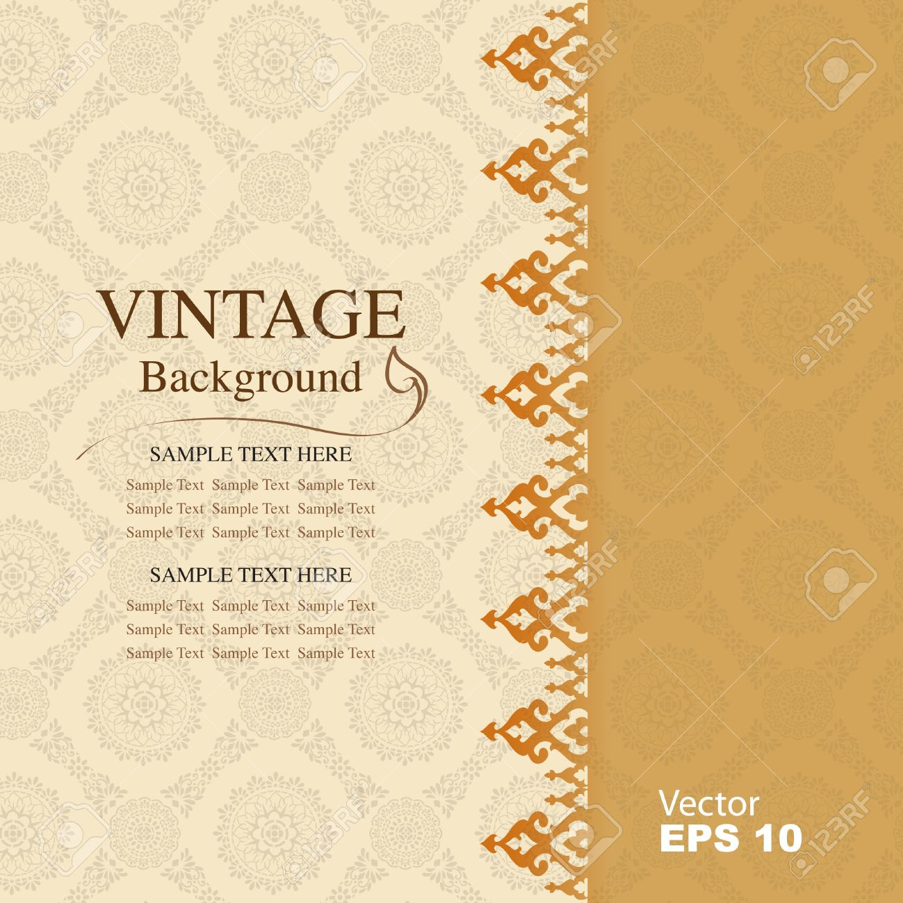 Vintage background, antique greeting card Stock Vector - 20361296