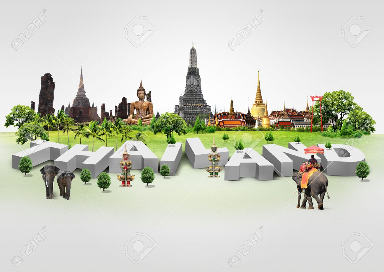 Thailand travel background and infographic, concept Stock Photo - 23112329