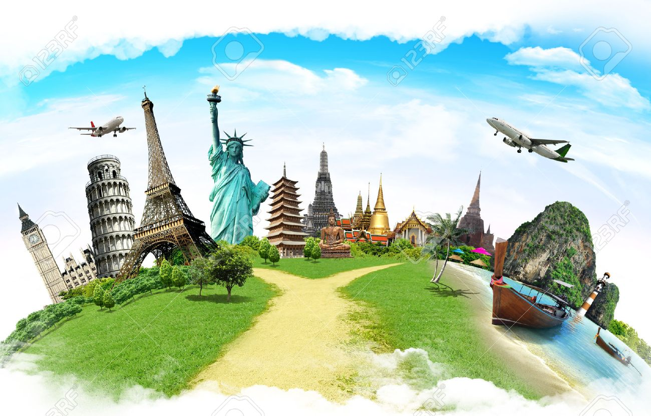 Travel the world monument concept Stock Photo - 36304764
