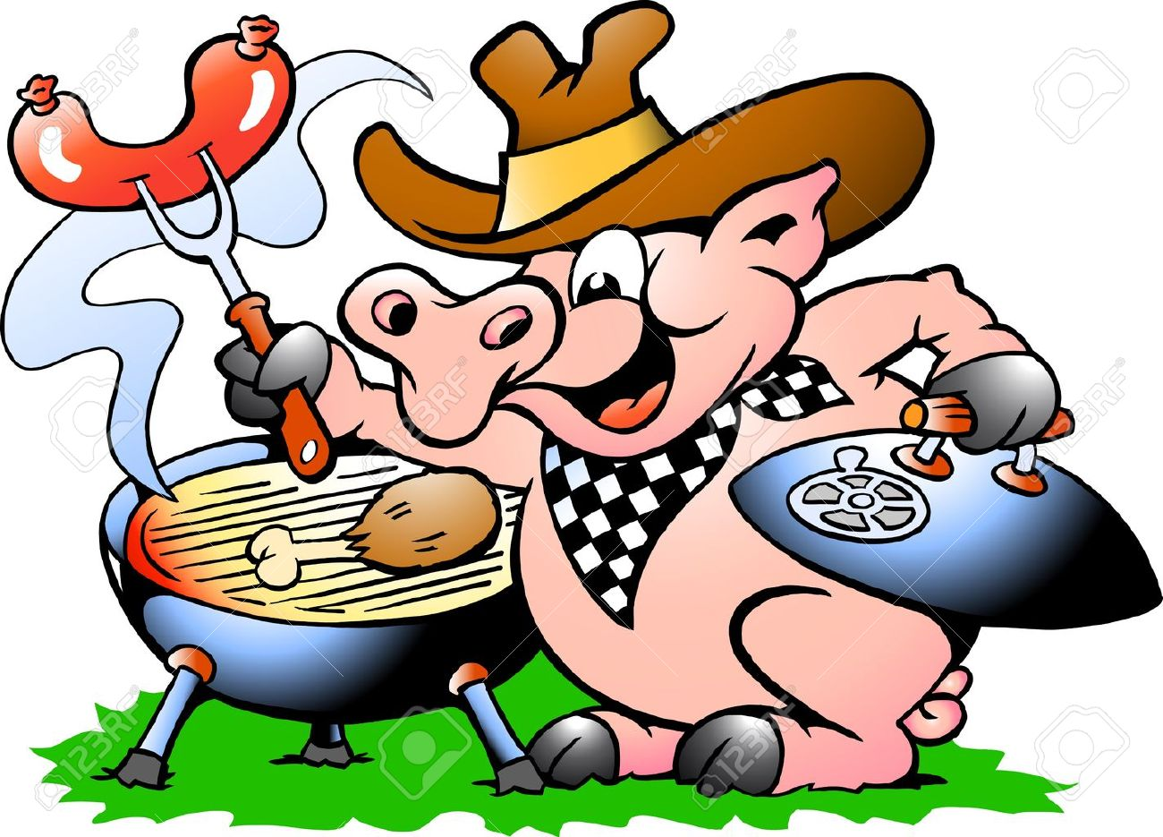 Animated bbq pigs