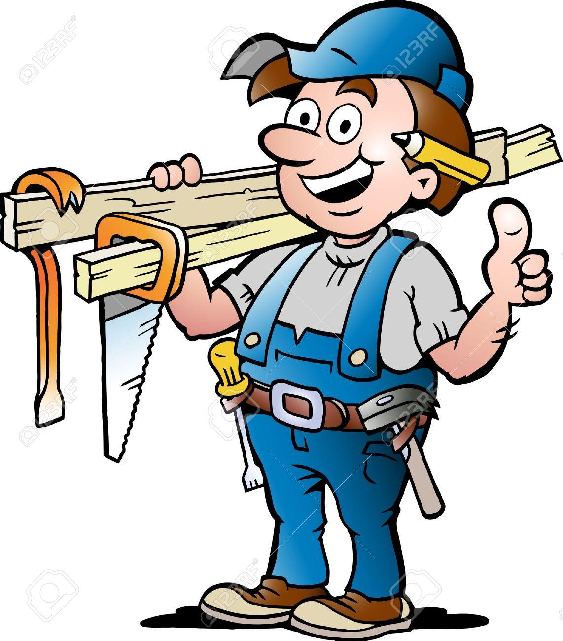 Bauarbeiter clipart schwarz weiß  Bauarbeiter Holz Lizenzfreie Vektorgrafiken Kaufen: 123RF