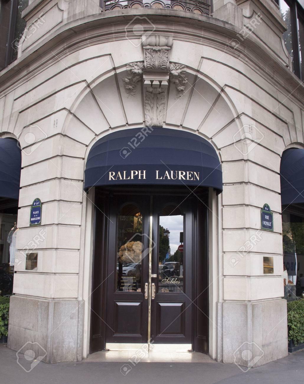 9078d7d73ed4 Paris, France -june 29, 2017: Ralph lauren store in Paris