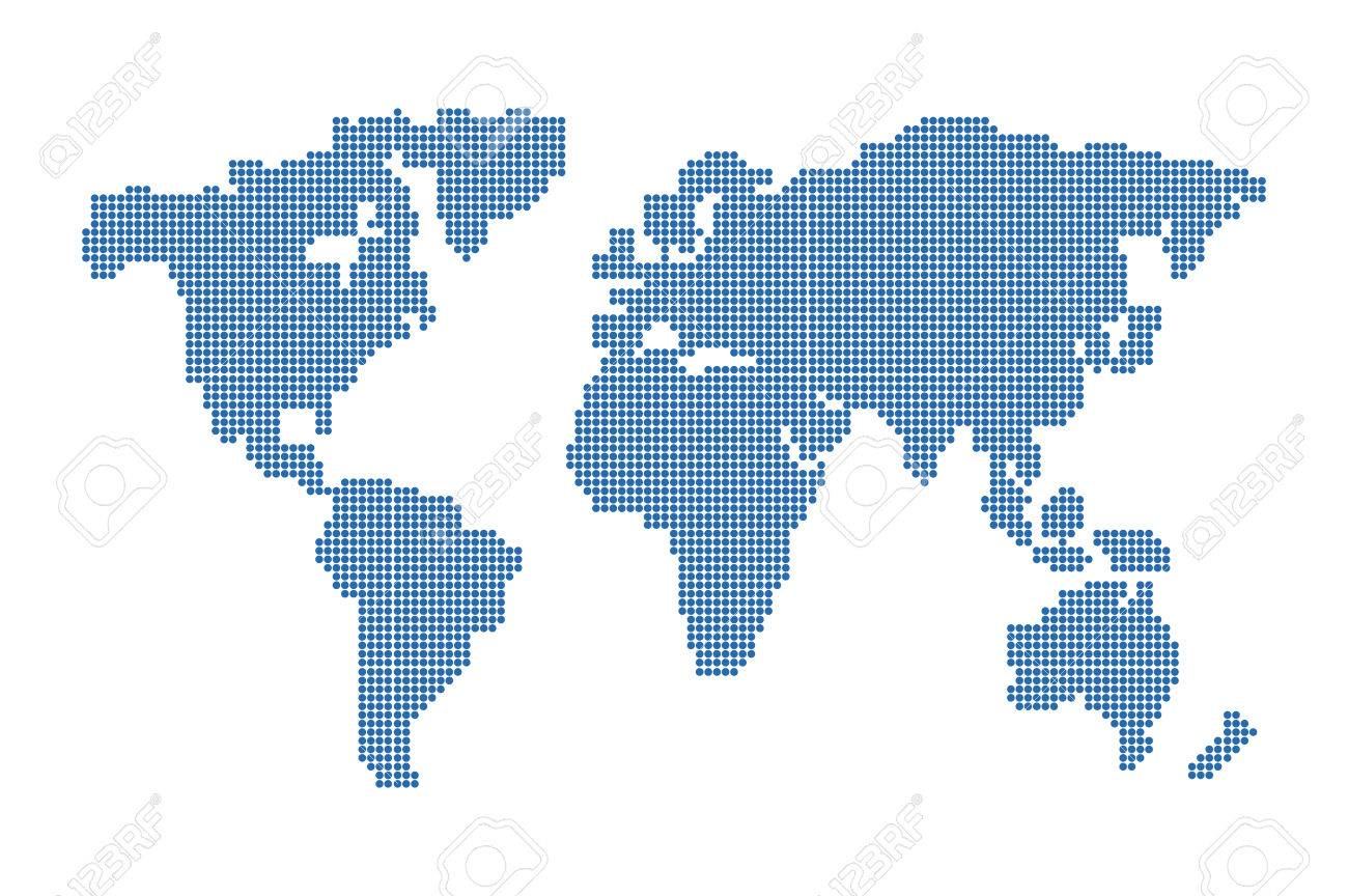 World map vector dots on white background royalty free cliparts vector world map vector dots on white background gumiabroncs