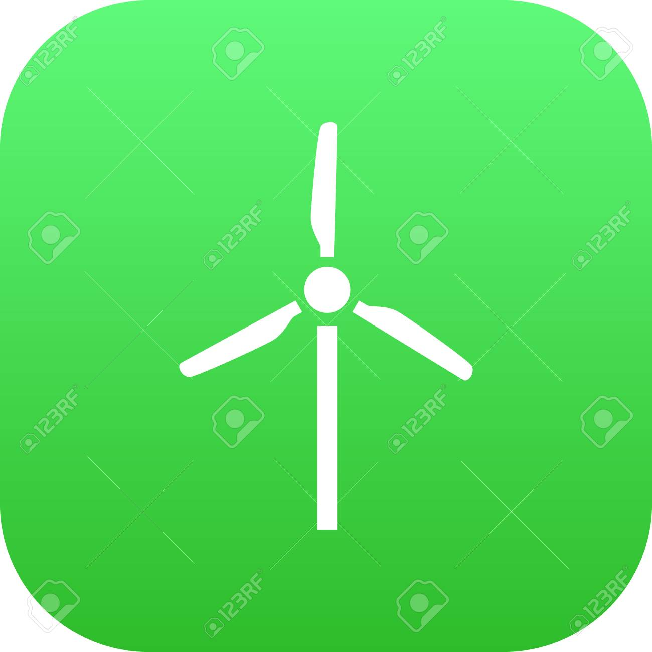 Isolated Wind Turbine Icon Symbol On Clean Background Vector