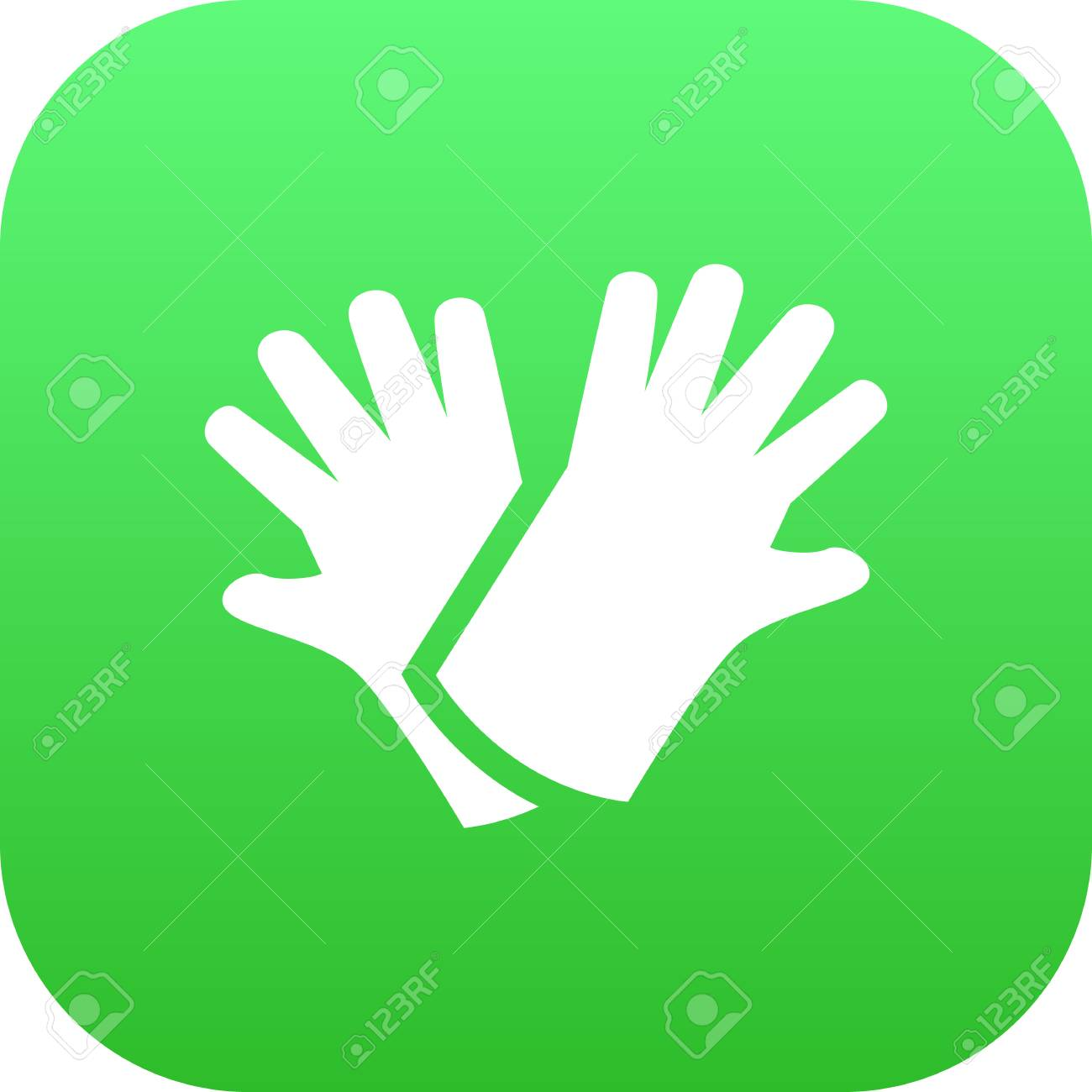Isolated Gloves Icon Symbol On Clean Background Vector Latex