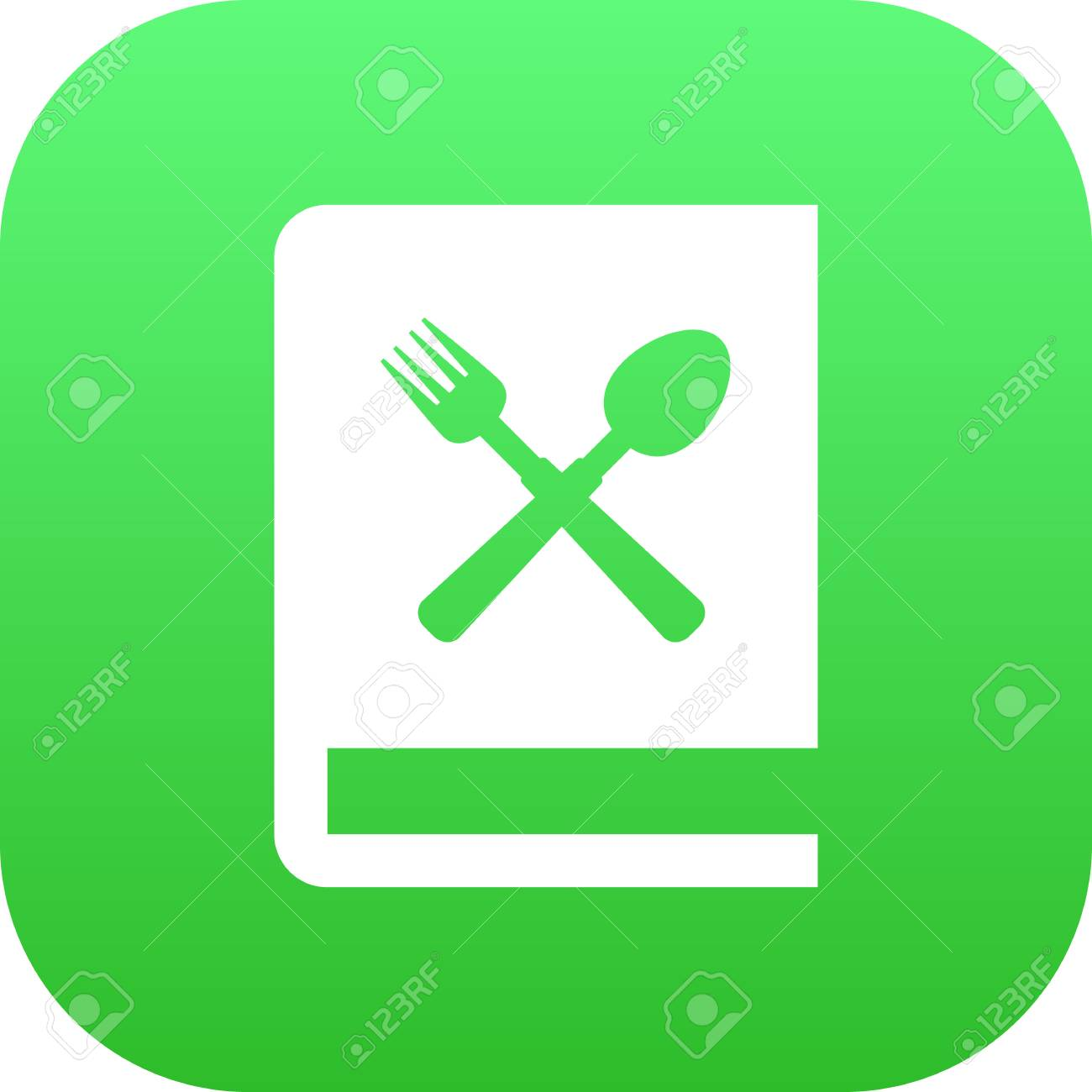 Isolated Book Of Recipes Icon Symbol On Clean Background