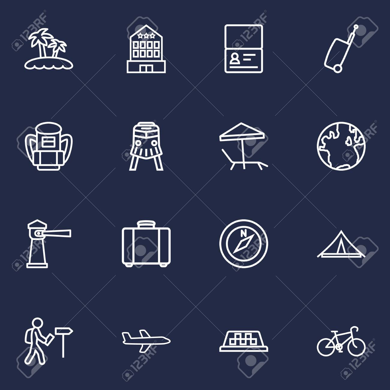 Set Of 16 Relax Outline Icons Setcollection Certificate Bike Electric Circuit Symbol Element Illustration Vectorielle Libre De Banque Dimages Taxi And Other Elements