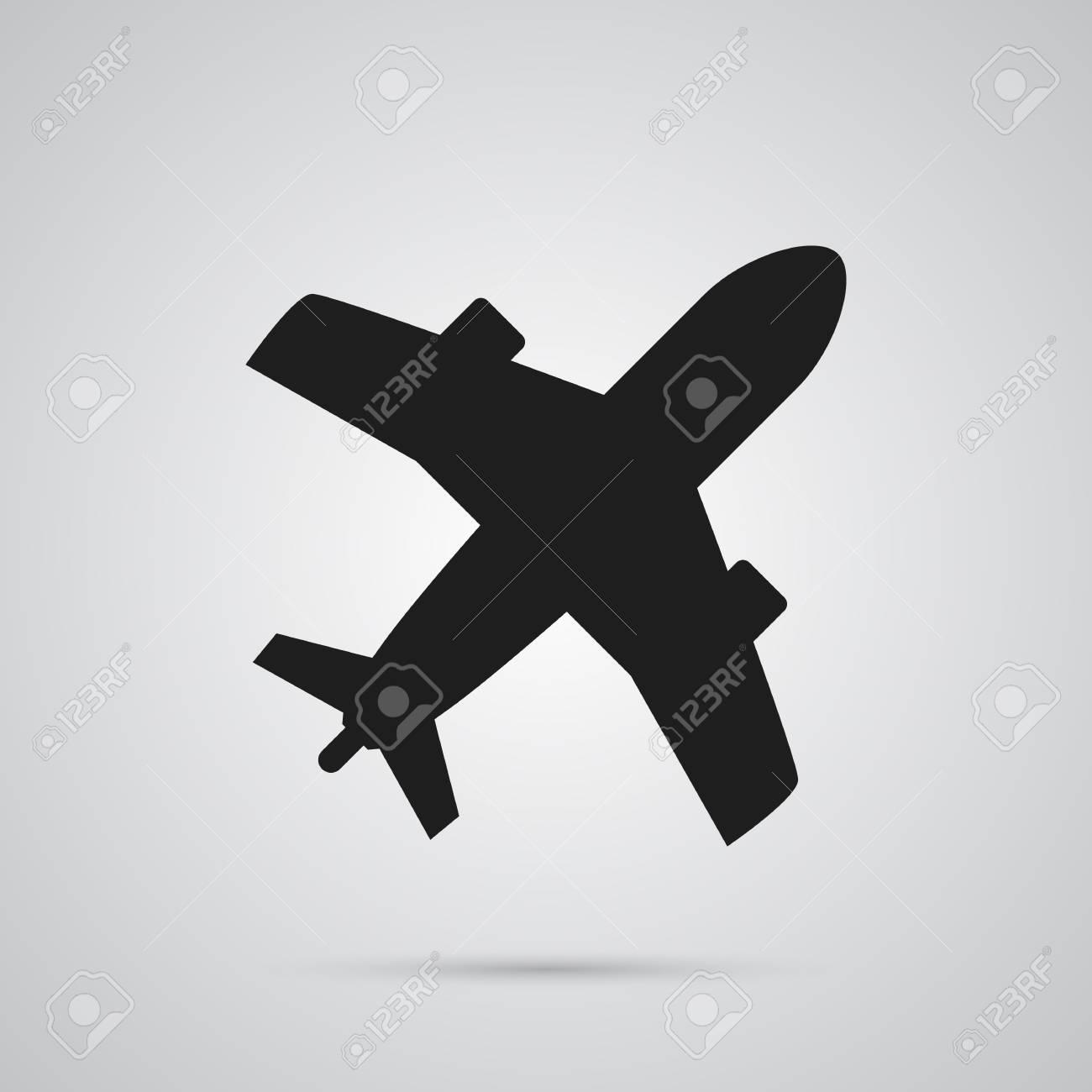 Isolated plane icon symbol on clean background vector aircraft isolated plane icon symbol on clean background vector aircraft element in trendy style stock buycottarizona Gallery