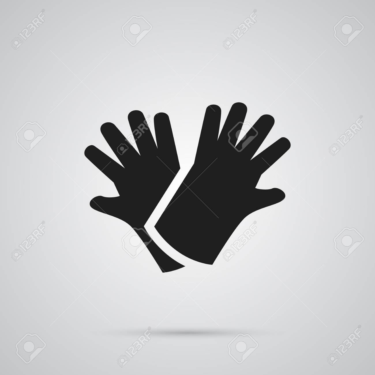 Isolated gloves icon symbol on clean background vector latex isolated gloves icon symbol on clean background vector latex element in trendy style stock biocorpaavc