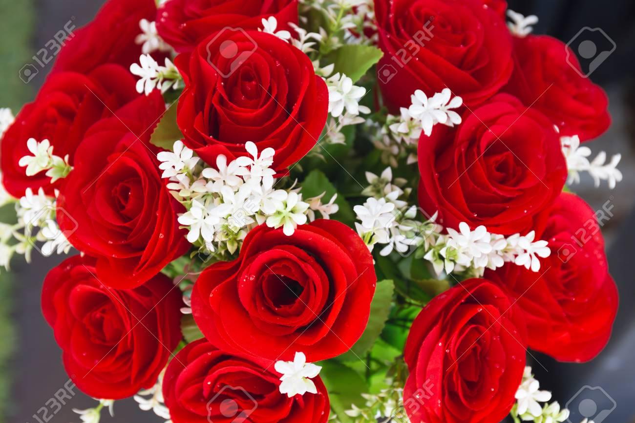 White Flowers In Vase Stock Photo
