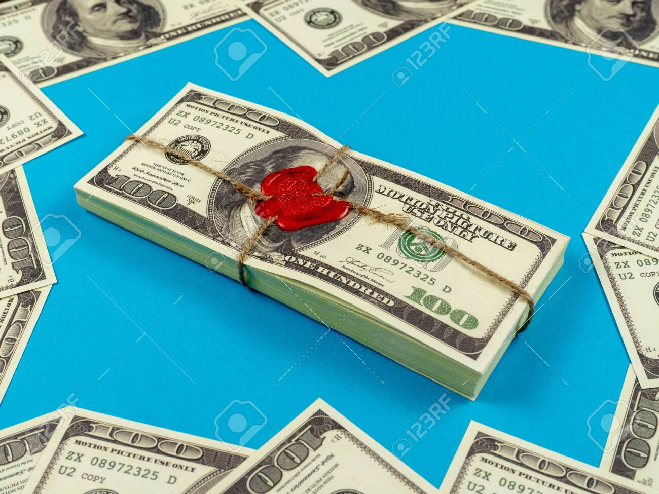 Prop Money Dollars Full Print Old Style 100 Dollar Bills  Sealed