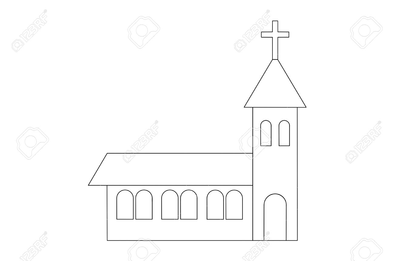 Simple Drawing Of The Church Stock Photo 12631630