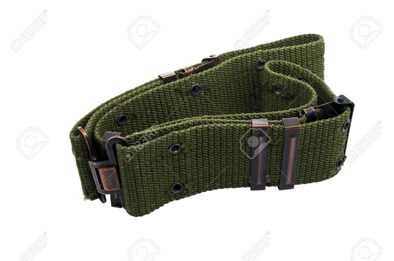 military belt isolated on white background