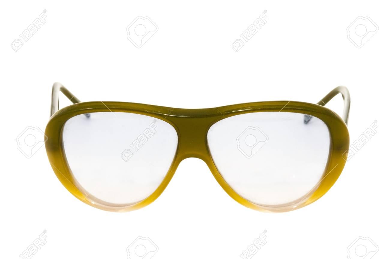 f87507d10ea5c1 Oude retro bril geà ¯ soleerd op witte achtergrond Stockfoto - 16478652