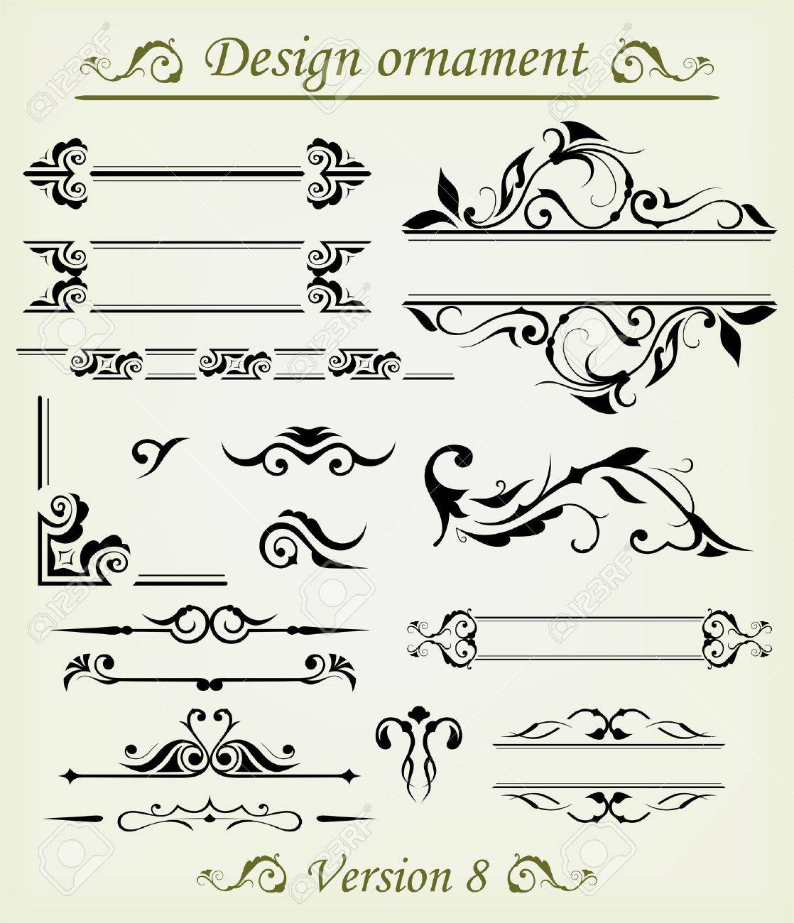 Vector set: calligraphic design elements and page decoration - lots elements to embellish your layout Stock Vector - 15795521