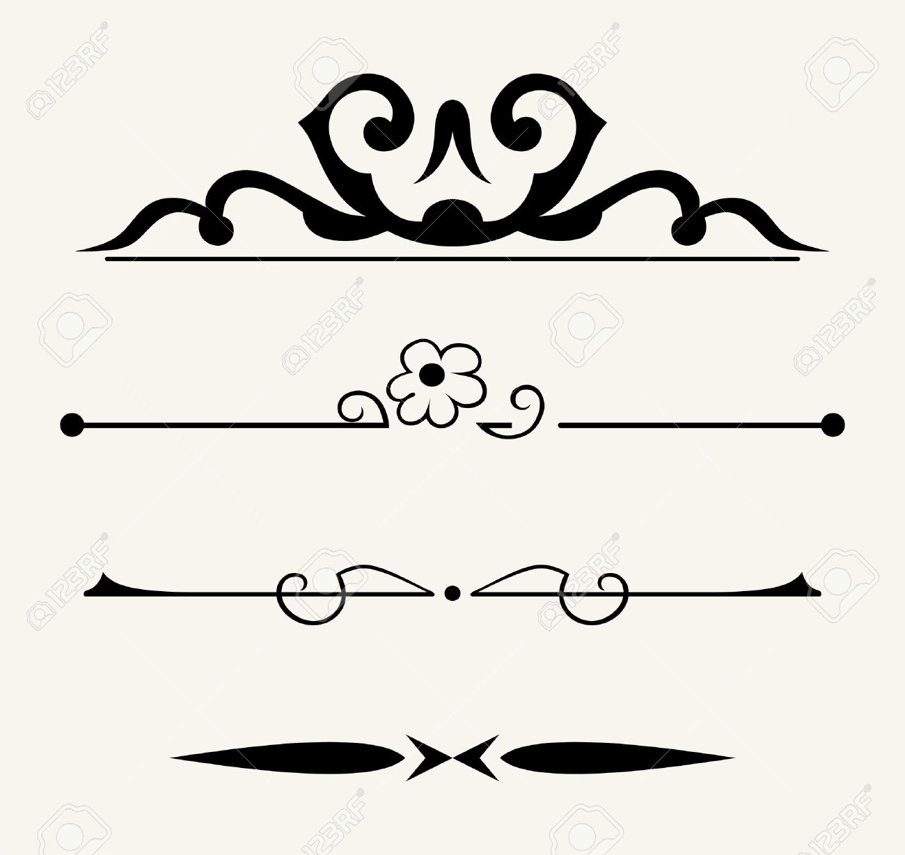 Calligraphy Line Design Wiring Diagrams Manual Cutter For Printed Circuit Board Sunyzcb400 View Vector Set Calligraphic Elements And Page Decoration Rh 123rf Com Art Strokes