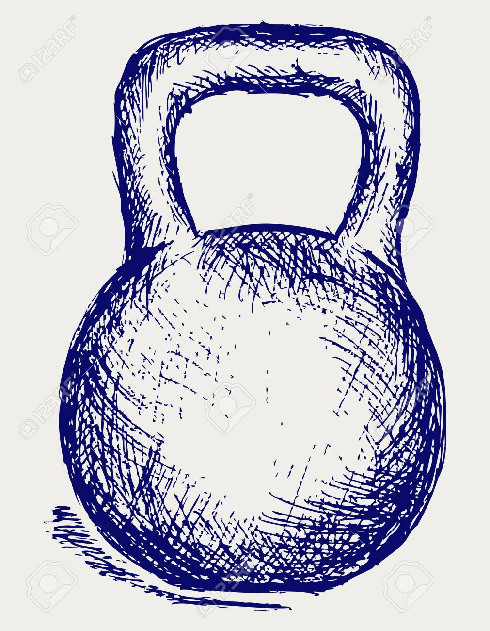 Sketch dumbbell weight Stock Vector - 15832090