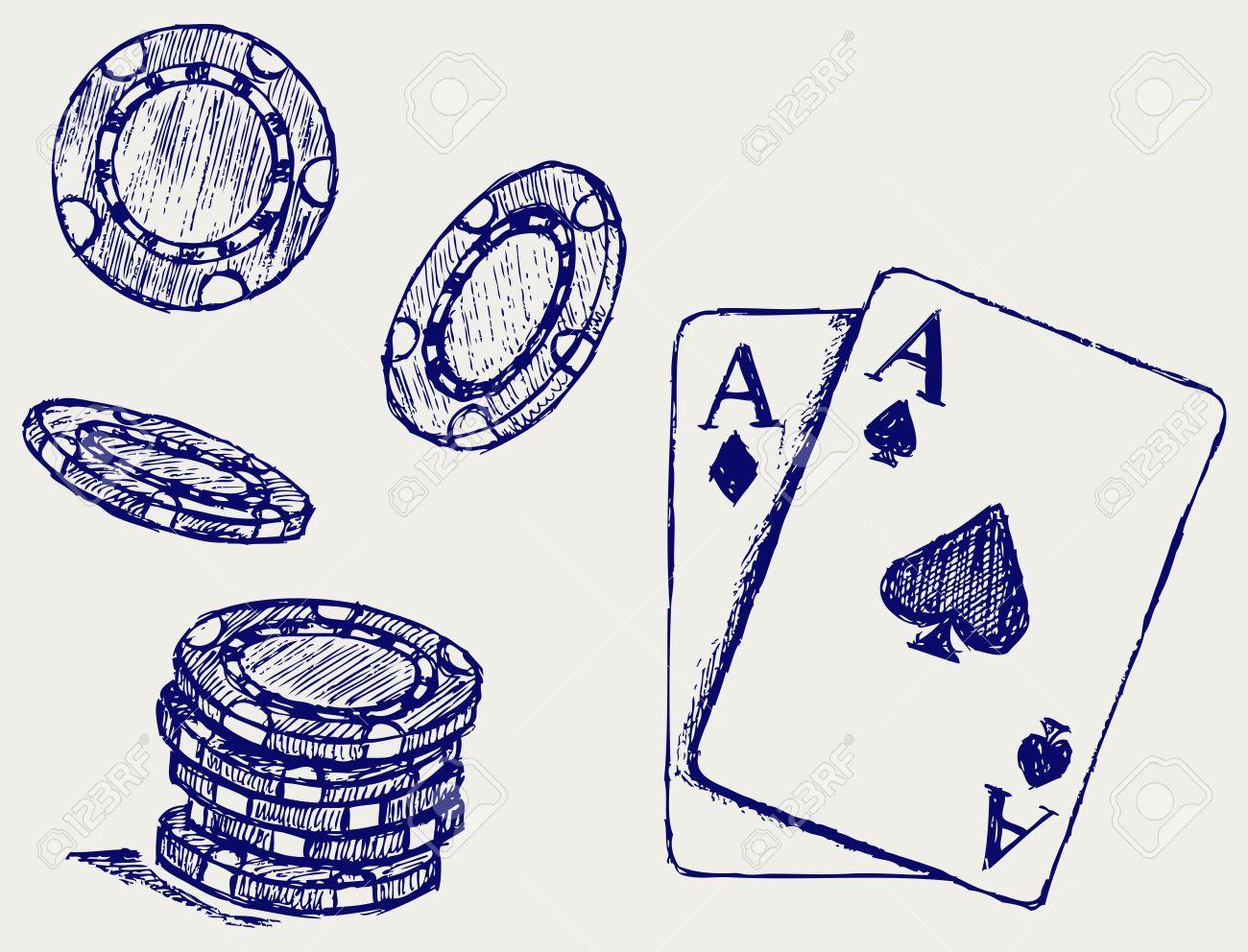 Gambling. Sketch Stock Vector - 15832098