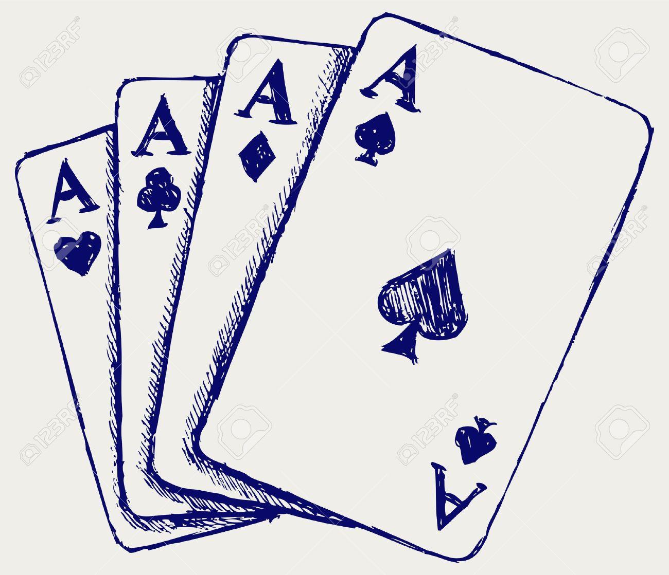 Gambling. Sketch Stock Vector - 15831702