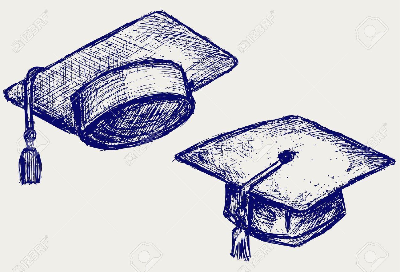 Pics photos how to draw a graduation hat - Graduation Cap Stock Vector 15832135