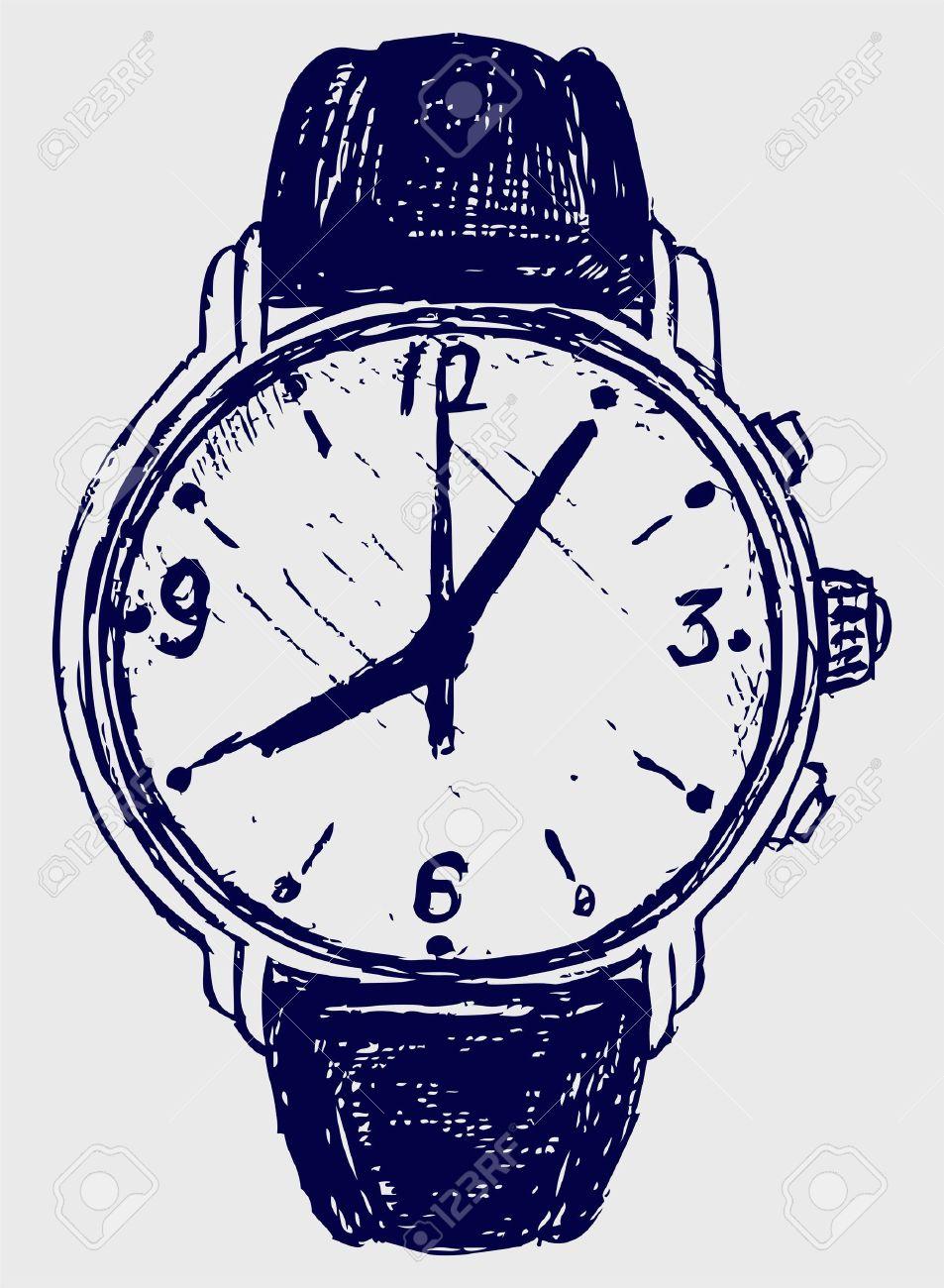 Armbanduhr skizze  Armbanduhr Skizze Lizenzfrei Nutzbare Vektorgrafiken, Clip Arts ...