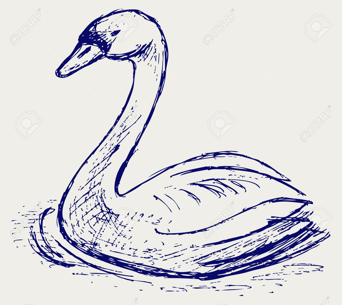 swan sketch stock vector 15831729