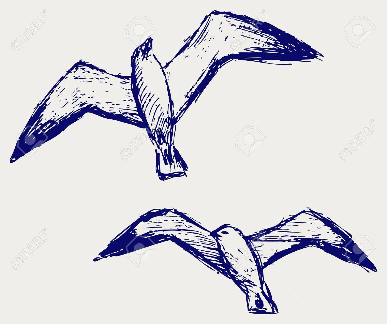 Seagulls. Sketchy Stock Vector - 15843234