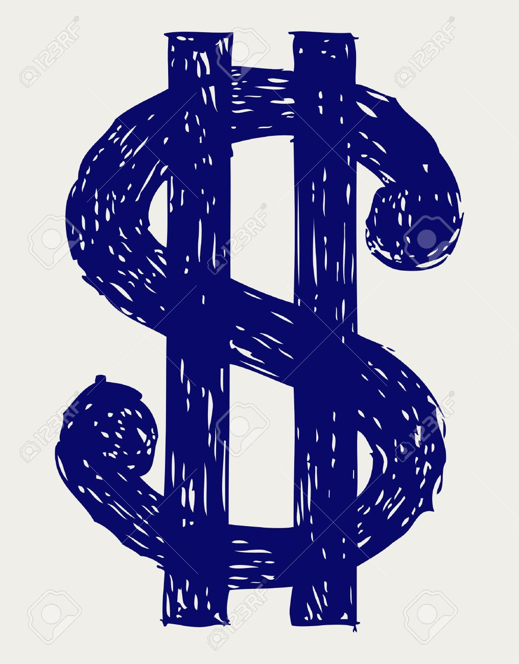 Dollar sign. Sketch Stock Vector - 15843218