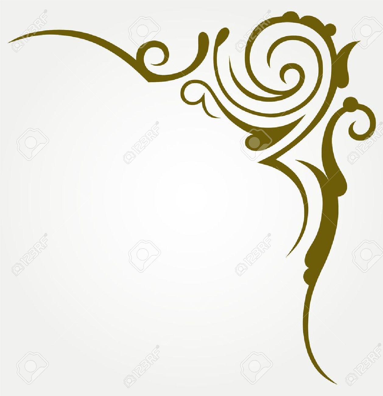 Calligraphic Design Element Calligraphy Corner Designs