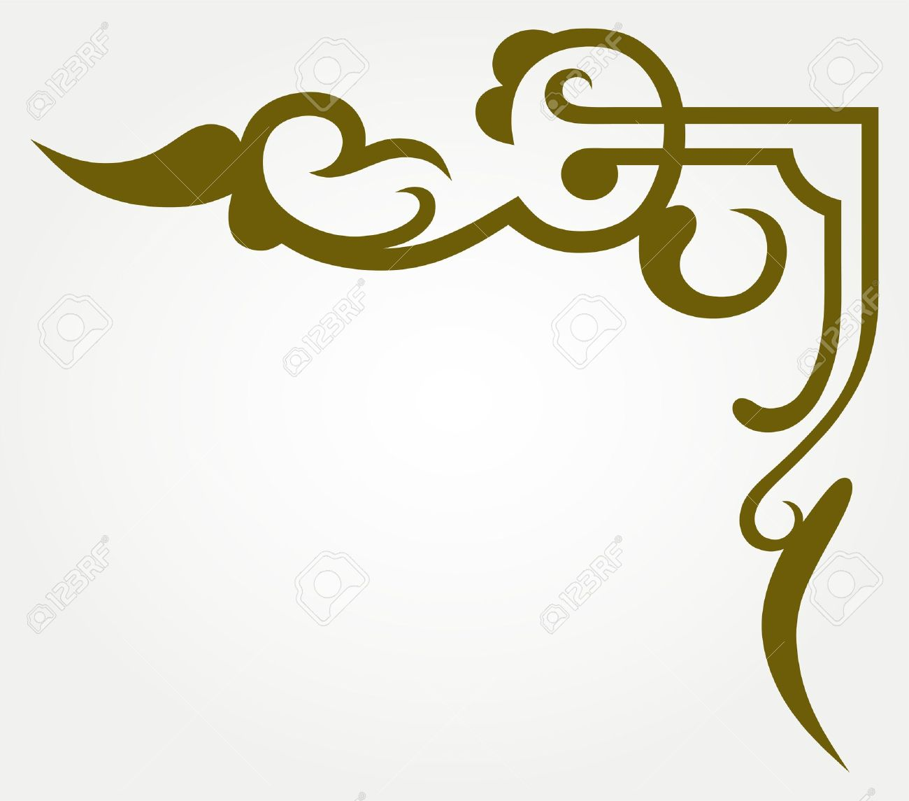 High Quality Corner Design: Calligraphic Design Element And Page Decoration