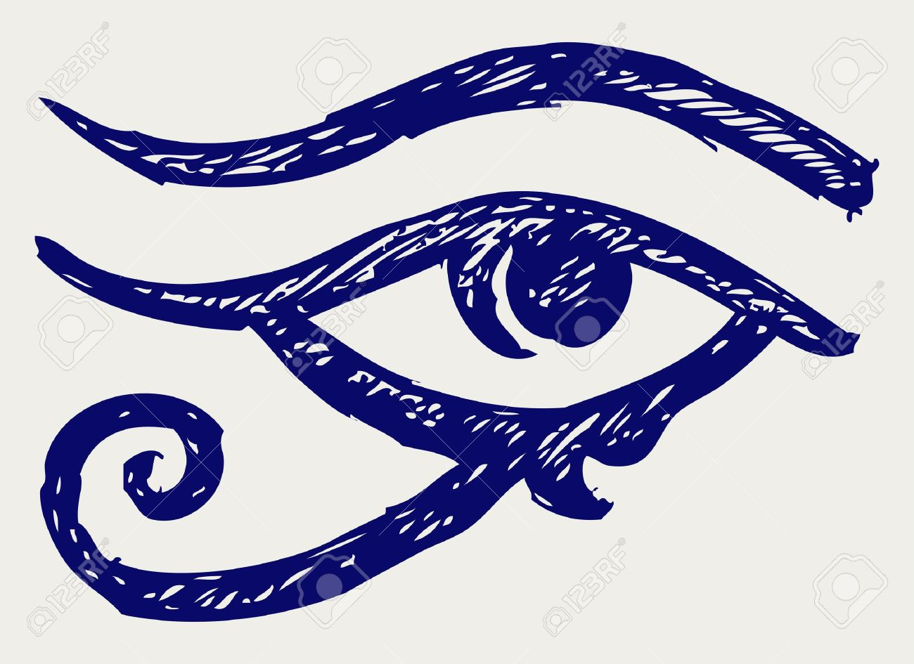 All seeing eye. Doodle style Stock Vector - 15873141