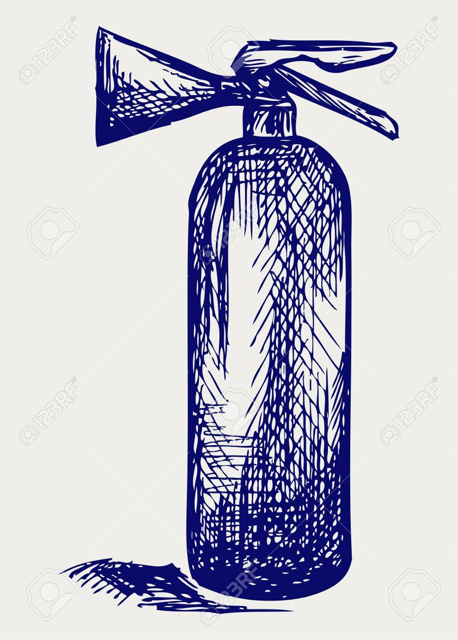 Fire extinguisher. Doodle style Stock Vector - 15912283