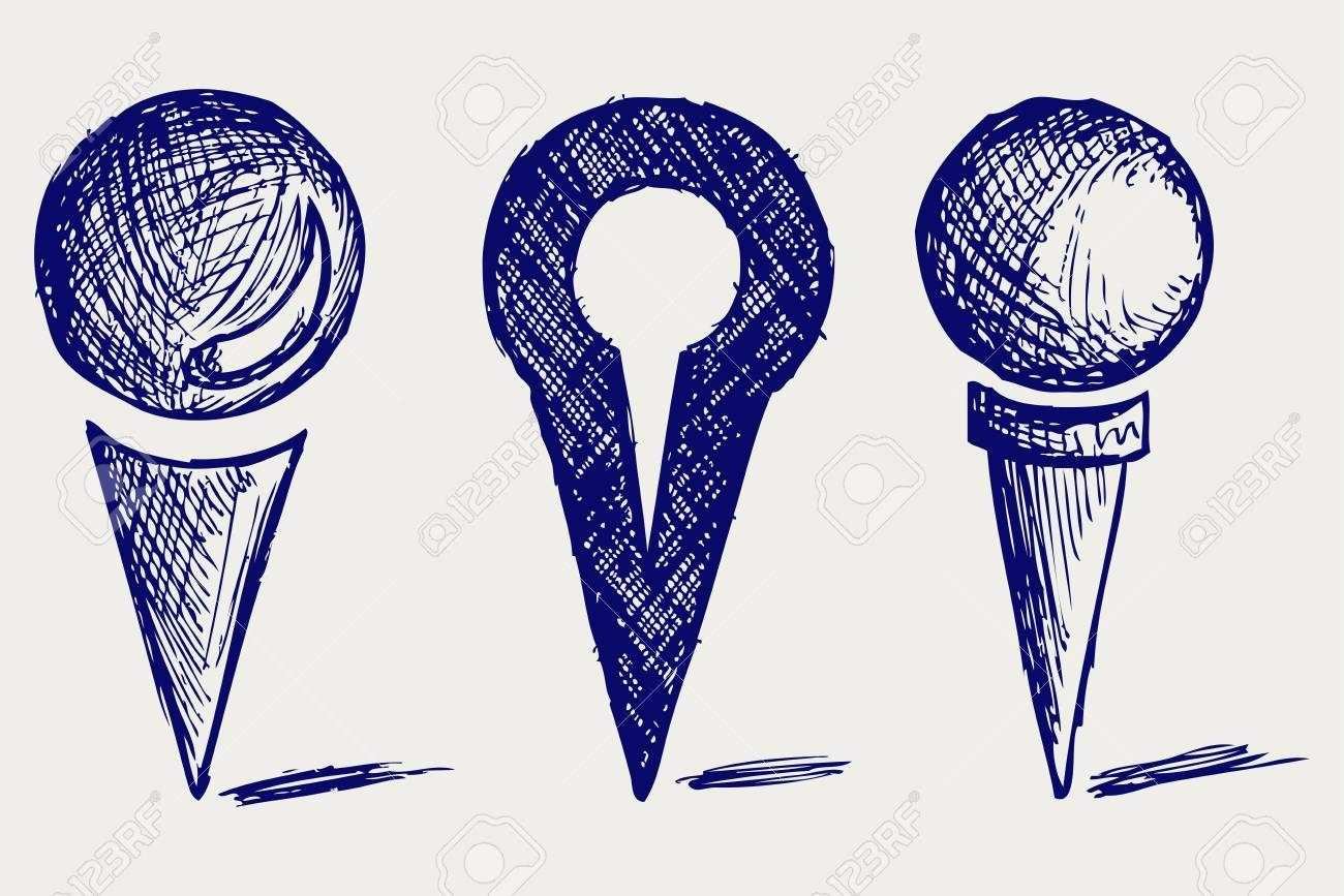 location Icon. Doodle style Stock Vector - 16906339