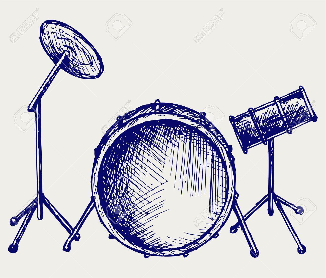 Drum Set Clipart Drum Set Doodle Style