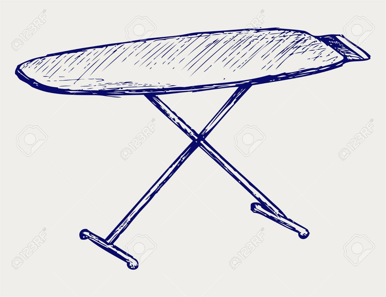 Ironing Board Doodle Style Royalty Free Cliparts Vectors And Clip Art Image Simple Drawing Of A Circuit Stock Vector 17057362