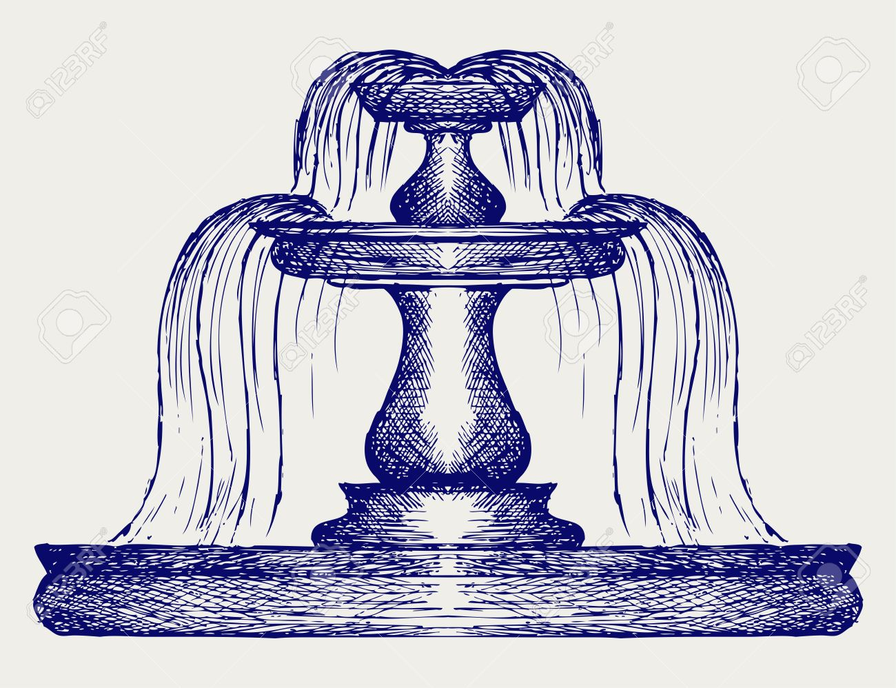 Fountain. Doodle style Stock Vector - 17333622