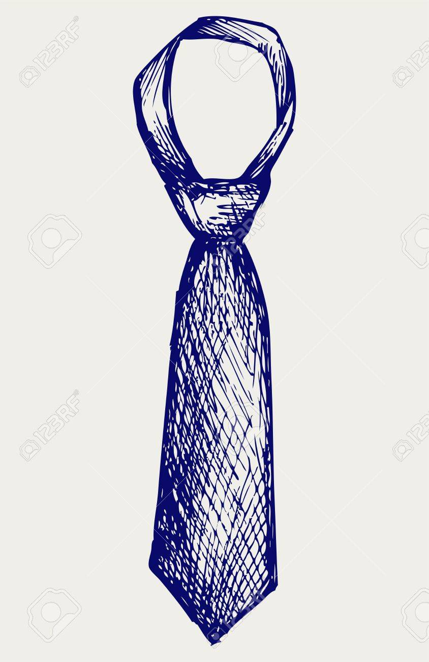 Illustration tie. Doodle style Stock Vector - 17333590
