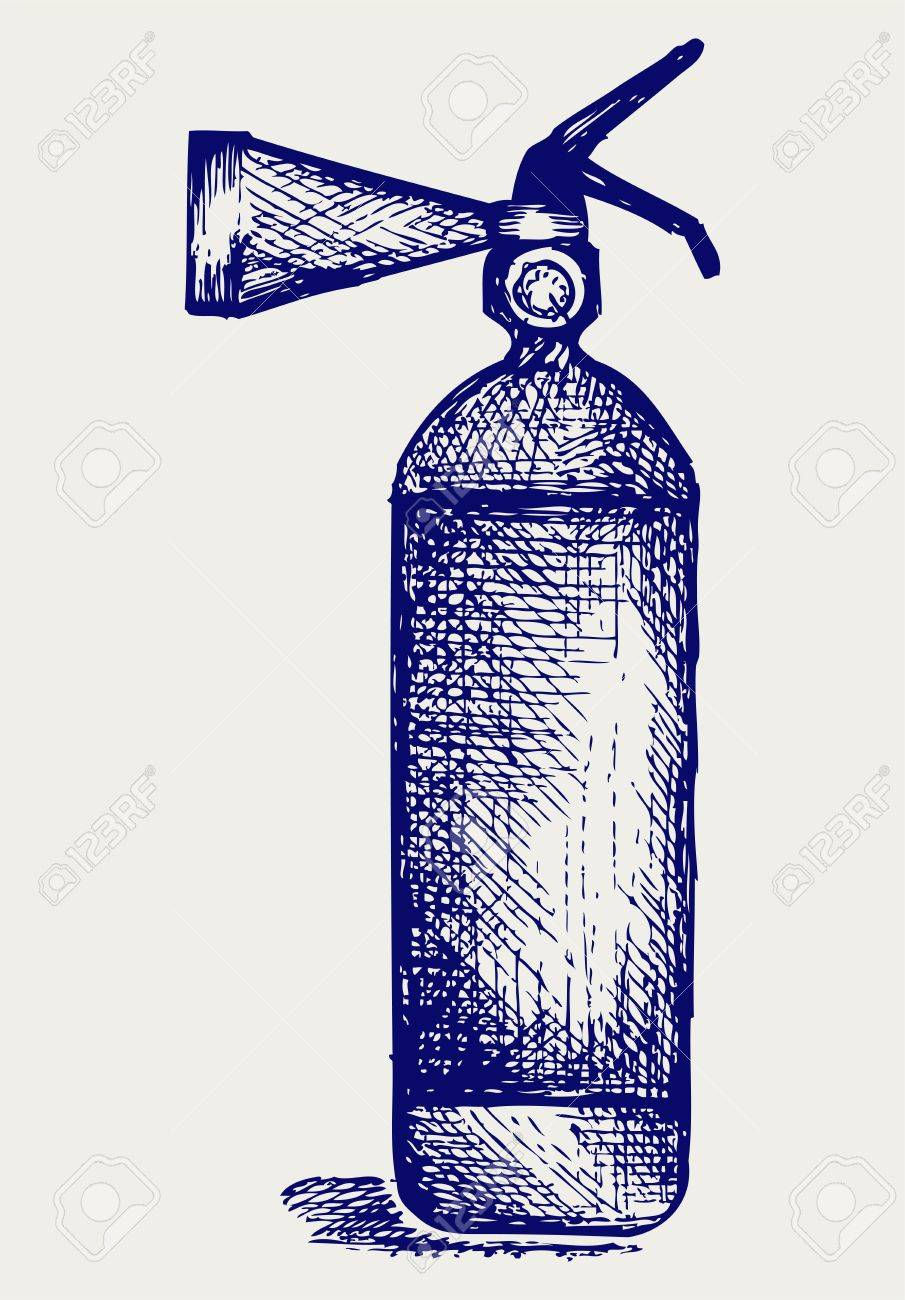 Fire extinguisher. Doodle style. Vector EPS 8 Stock Vector - 18162582