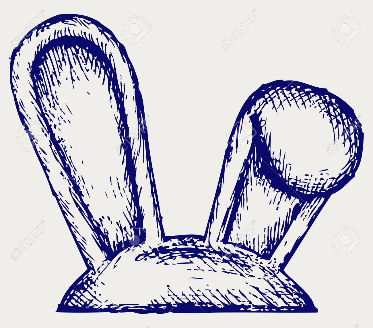 Easter Bunny Ears. Doodle Style Royalty Free Cliparts, Vectors ...