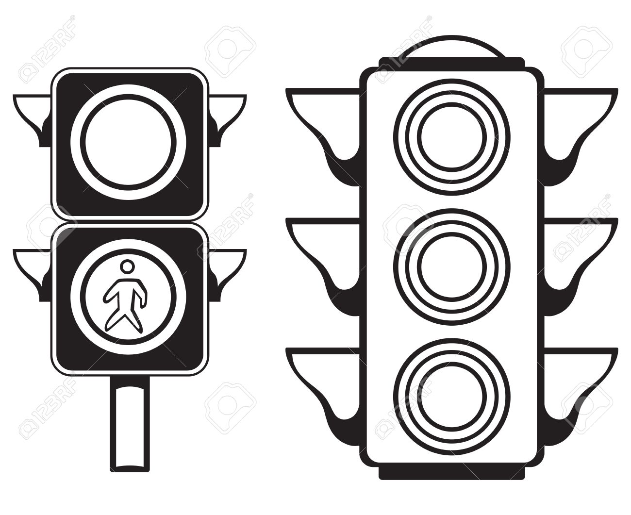 Traffic Light Isolated On White Background Stock Vector