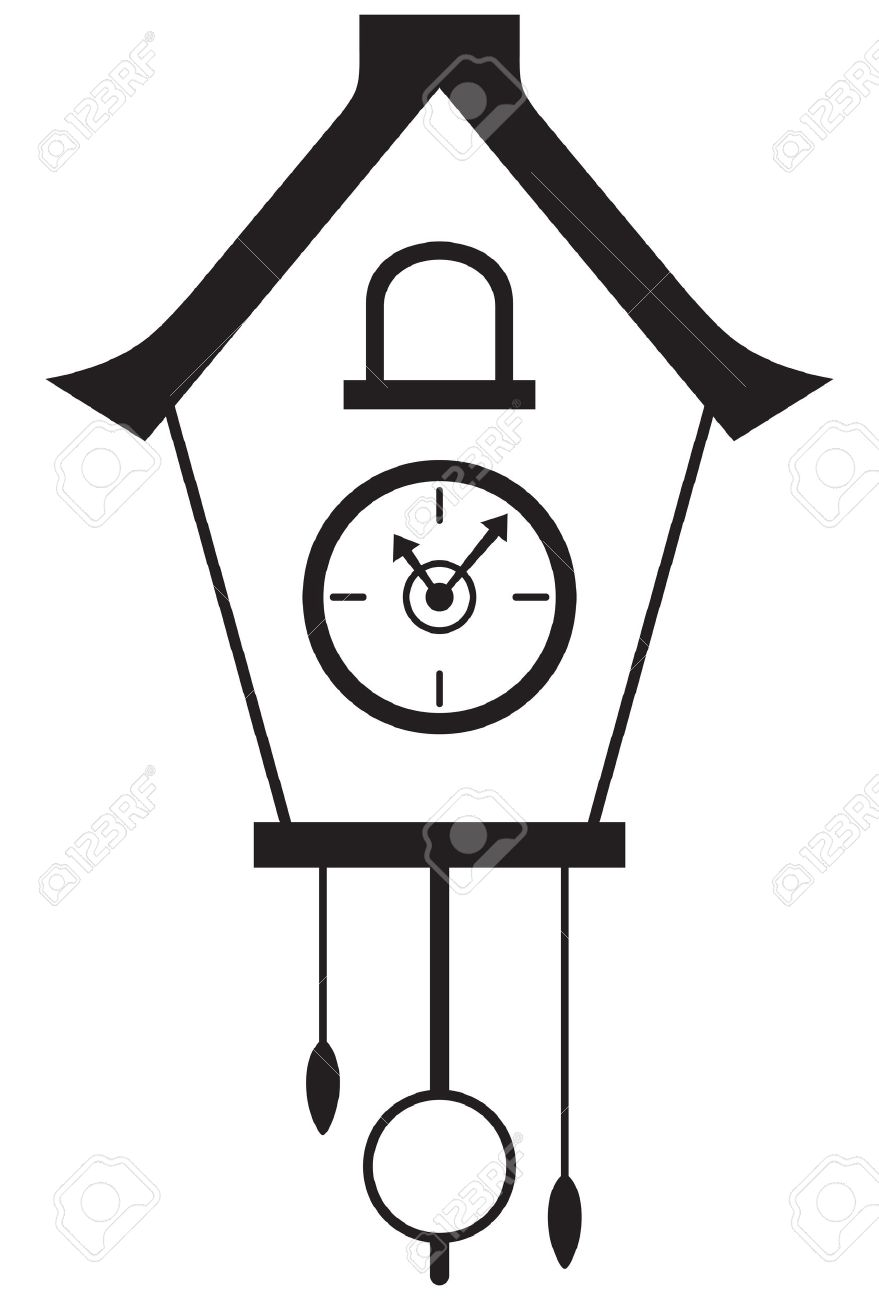 Cuckoo clock isolated on white background Stock Vector - 20543871