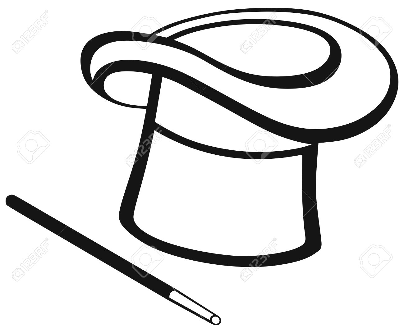 Sombrero Clip Art Black And White and hat isolated on white