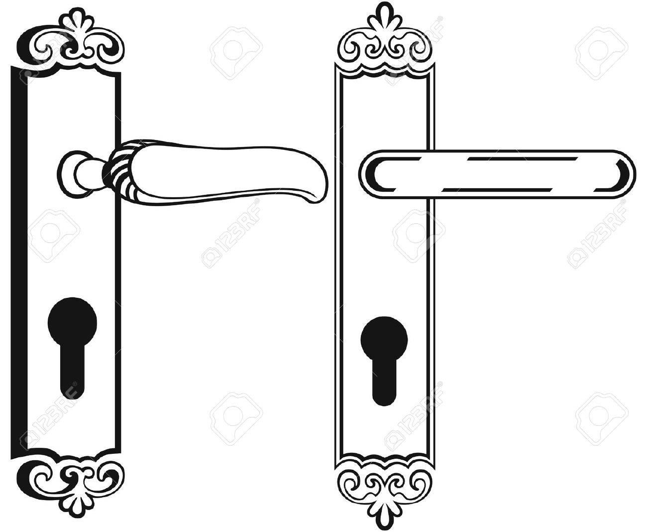 Door leaf drawing convention the location drawing joshua nava arts - Door Handle Symbol Stock Vector 20543981